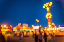 Blurred view of the Funfair
