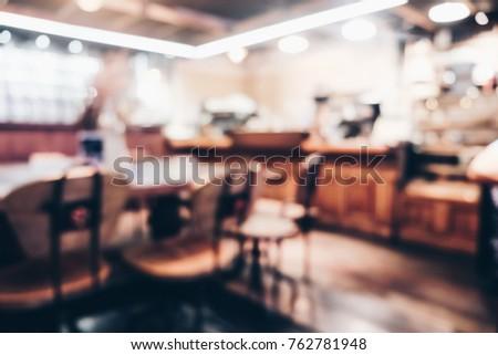 blurred vintage coffee shop...
