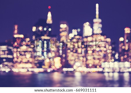 blurred vintage toned manhattan ...