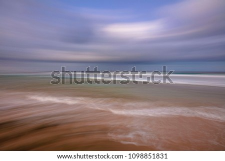 Blurred waves and Indian ocean coastline - Mozambique