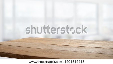 blurred window background with table Foto stock ©