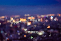 Blurry Background and copy space of cityscape concept at the twilight time or sunset time with soft focus