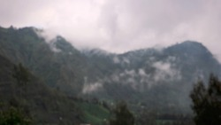 Blurry background of mountain Bromo, East Java, Indonesia