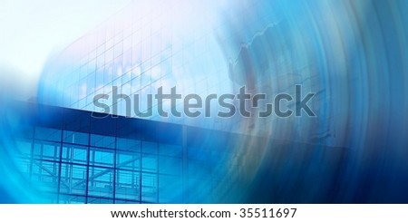 blurry business architecture background
