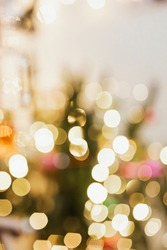 Blurry colorful Christmas bokeh light