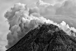 Blurry Explotion of Merapi Mountain