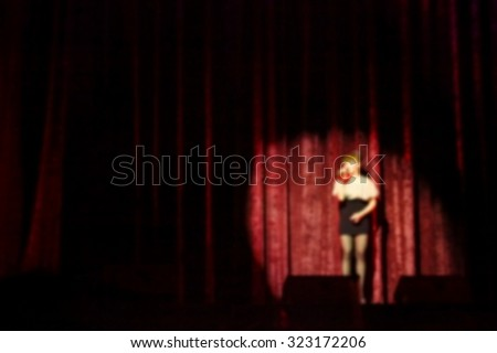 Blurry focus of show on stage scene represent the show and stage concept related idea.