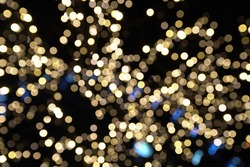 blurry golden bukeh for background