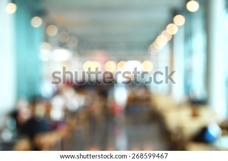 Blurry image of a cafe interrior