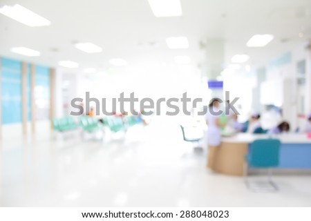 blurry image of hospital