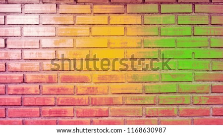 blurry images of brick background, illustrated examples and background