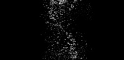 Blurry images of soda liquid water bubbles or carbonate drink or oil shape or beer fizzing or splashing and floating drop in black background for represent sparkling and refreshing