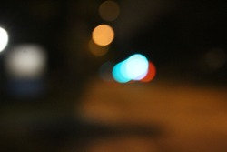 Blurry night time pic with colored light source