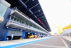blurry racing circuit for background