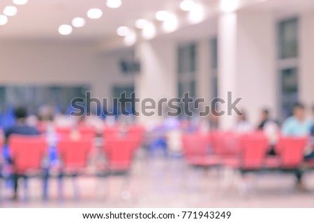 blurry reading area in  public...