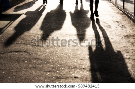 blurry shadows of people...