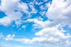 Blurry sky blue or azure sky and cloud on bright daytime