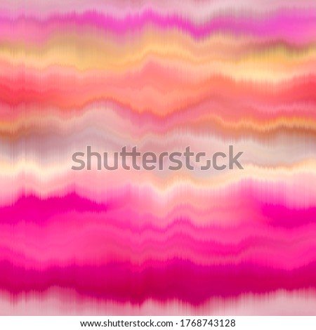 Blurry soft pink gradient artistic watercolor dye texture background. Wavy irregular bleeding glitch seamless pattern. Melange ombre effect painterly all over print