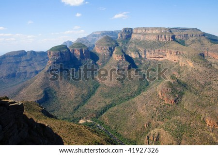 Blyde River Canyon - The Three Rondavels,  South Africa - stock photo