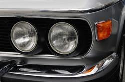 BMW E9 3.0 cs. Front detail. German classic car