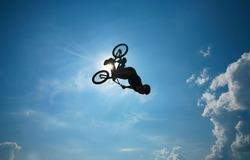 BMX rider performing air trick