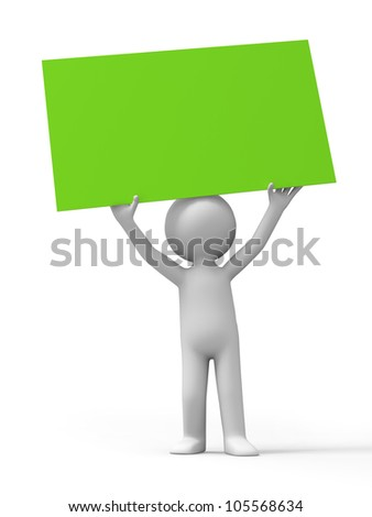 board/A man was holding a board