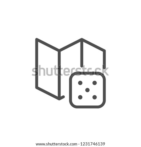 Board game line icon isolated on white