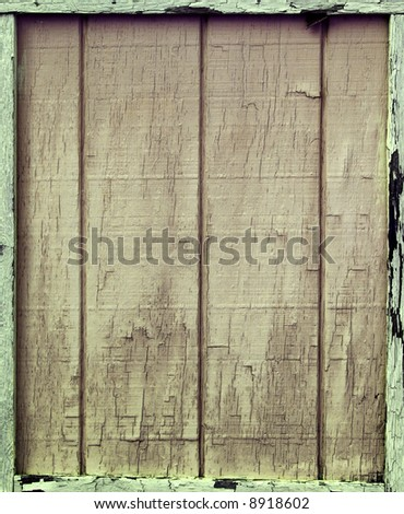 Boarded up Barn Door - stock photo