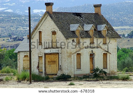 Boarded-Up House