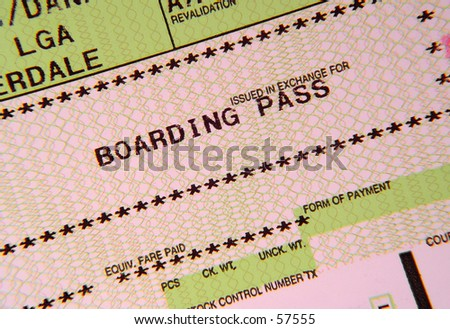 Boarding Pass - stock photo