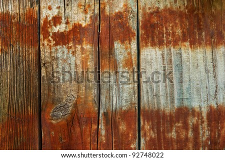 boards with rust from the barrel background horizontal