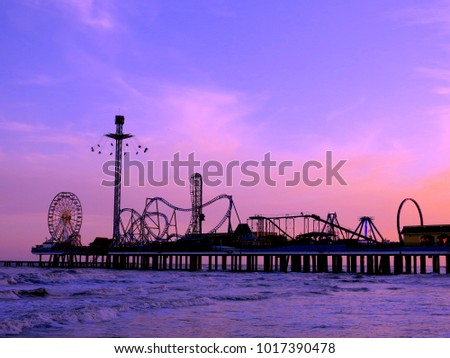 Boardwalk Carnival at Sunset