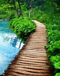 boardwalk in Plitvice