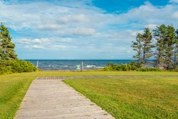 Boardwalk to Sally's Beach Provincial Park Beach (Prince Edward Island, Canada)