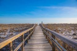 Boardwalk to White Sand Beaches