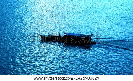 boat activities on the Batanghari river #1426900829