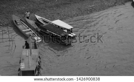 boat activities on the Batanghari river #1426900838