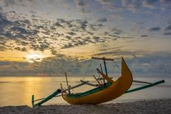 Boat and Sunrise at Pantai Serdang