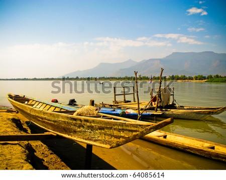 boat at Champasak, Laos