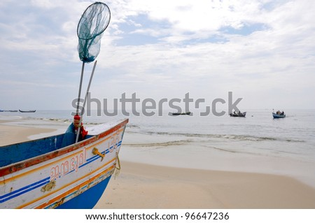 Boat at kerala, India