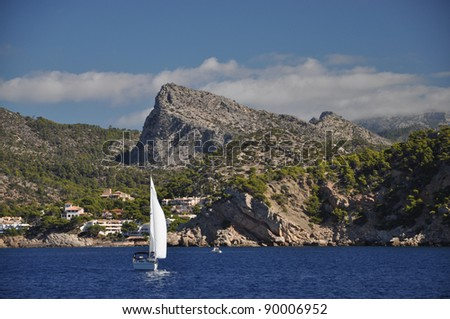 Boat at the coast of Majorca
