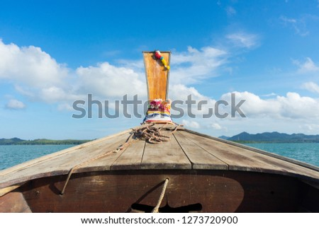 Boat & Blue Sky   Attractions in Phang-Nga Province   Thailand #1273720900