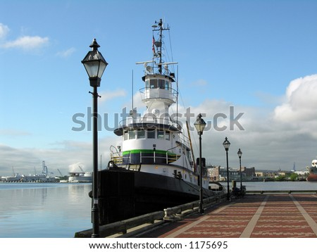 Boat docked at Baltimore, Maryland