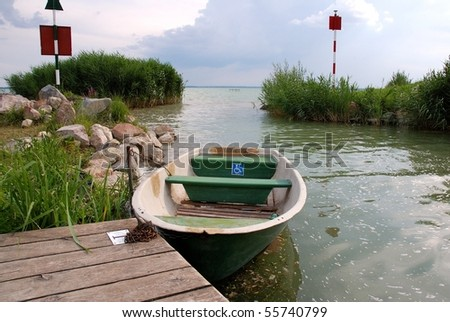 Boat for disabled people in Balaton lake