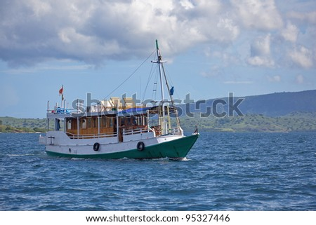 Boat for tourists