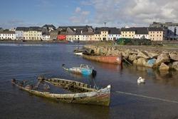 Boat graveyard in the Claddagh, Galway, Ireland.