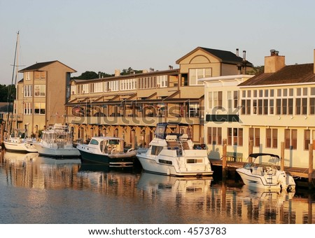 boat harbor in Mystic, CT