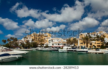 Boat Harbour in Cabopino, Costa del Sol, Southern Spain