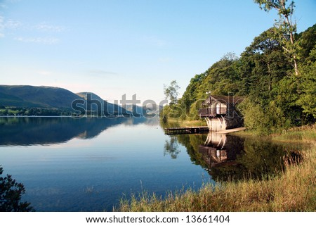 Boat House on Ullswater in the Lake District, Cumbia (England)