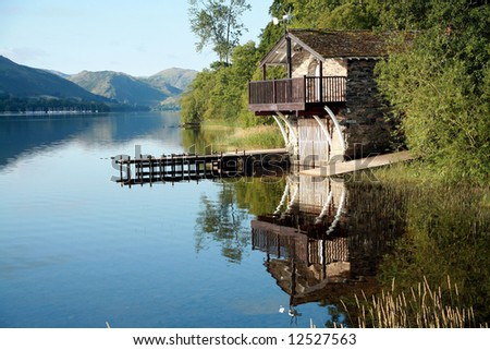 Boat House on Ullswater in the Lake District, Cumbria (England)